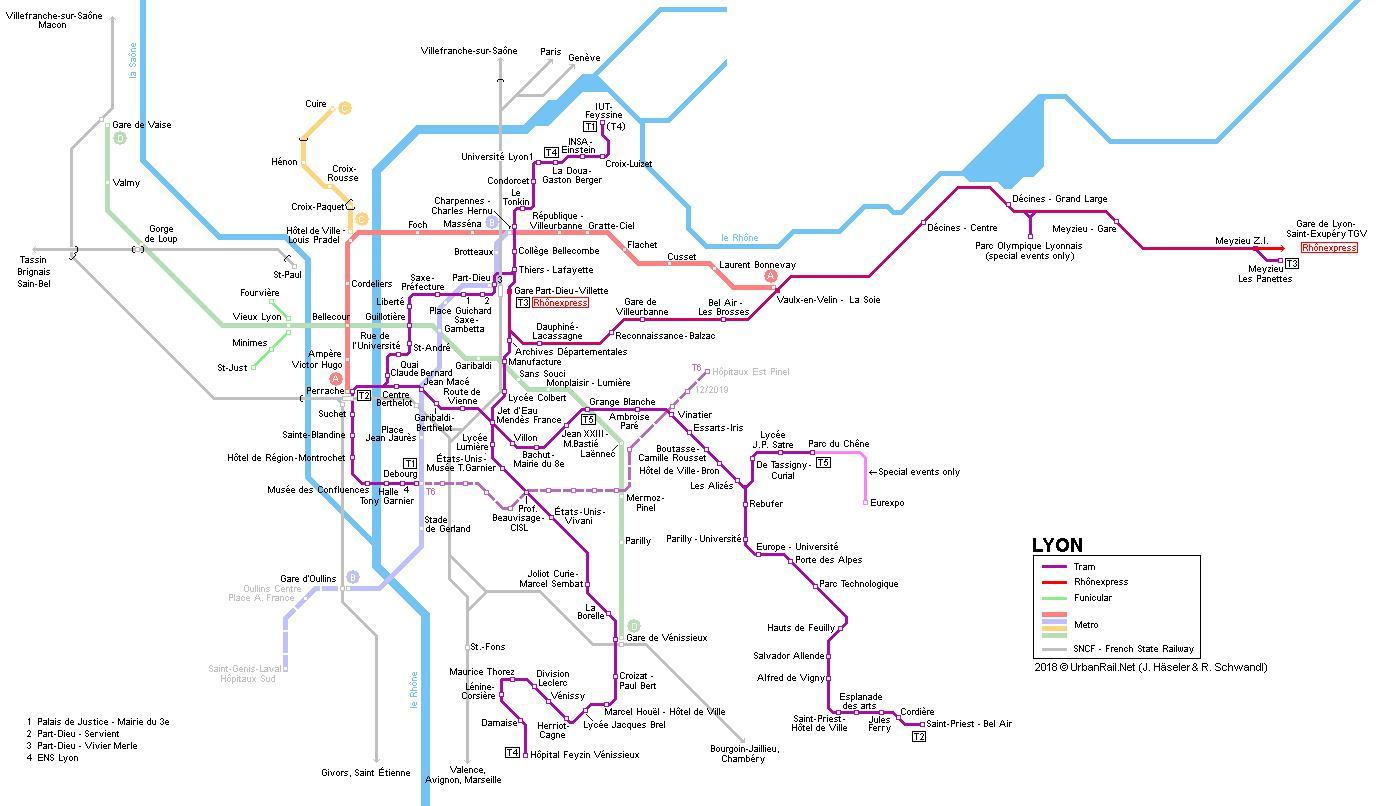 Rail Map Of France.Lyon Train Map Lyon Rail Map Auvergne Rhone Alpes France