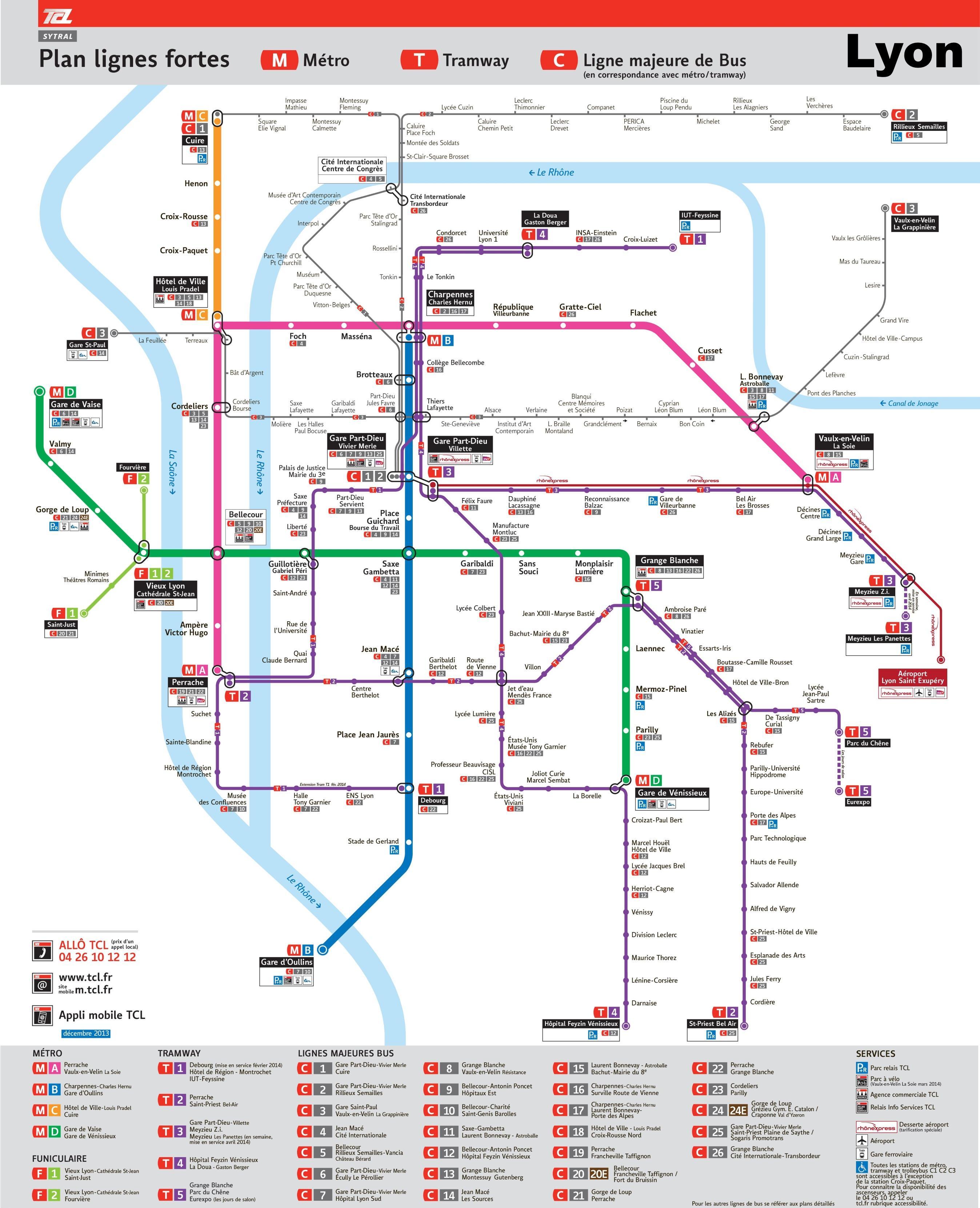 Lyon transport map Lyon transport map pdf AuvergneRhneAlpes