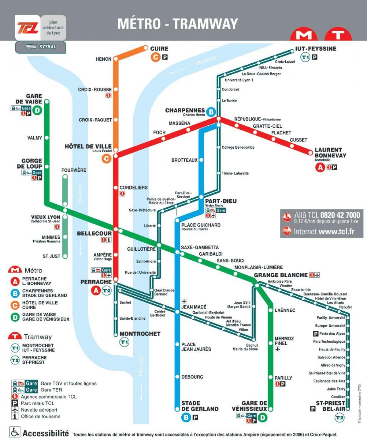 Lyon Metro Map Pdf Lyon France Metro Map Auvergne Rhone Alpes